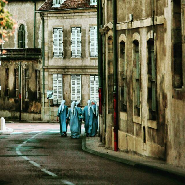 Nuns in Autun, Burgundy, France