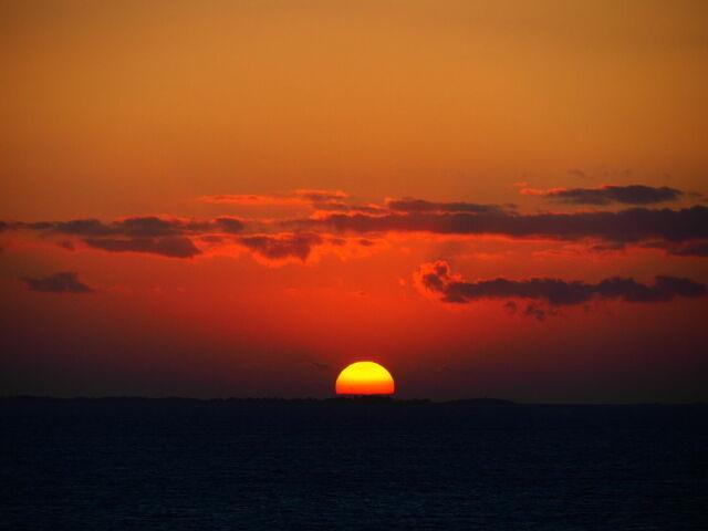 Sunset, Bretagne, France